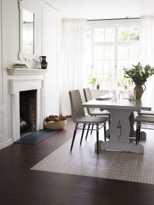 Harvey Maria Luxury Vinyl Tile Flooring - Dee Hardwicke Hayfield with Antique Oak Border
